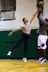 14. He loves basketball and his favorite basketball player is his daughter Sasha. (Pete Souza)