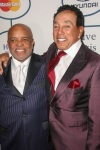 Berry Gordy and Smokey Robinson attend the 56th Annual Grammy Awards - Clive Davis and the Recording Academy's Pre-Grammy Gala. (Photo: PRPhotos)