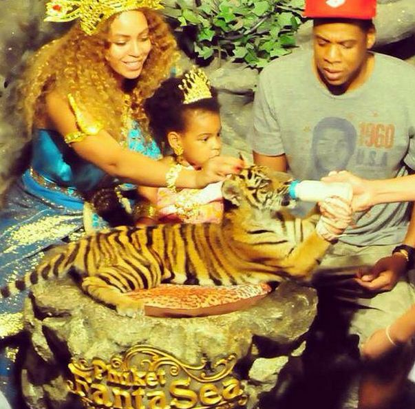 Jay-Z has one daughter, Blue Ivy, with wife Beyonce.