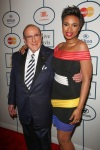 Jennifer Hudson and Clive Davis attend the 56th Annual Grammy Awards - Clive Davis and the Recording Academy's Pre-Grammy Gala. (Photo: PRPhotos)