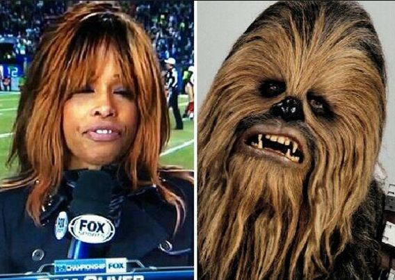 Twitter Goes Wild Over Pam Olivers Hair Compares Her To Chewbacca