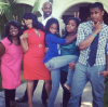 Niecy Nash with her mom, husband, and kids