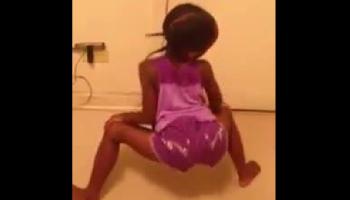 little girl twerking