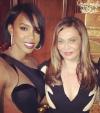 Kelly Rowland and Tina Knowles