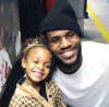 LeBron James with Chris Bosh's daughter