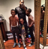 Dwayne Wade and his kids