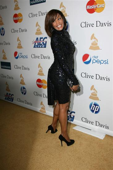 Whitney Houston at the Grammy's Pre-Party in 2011.