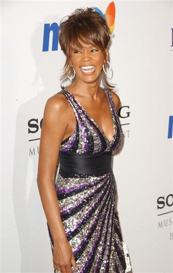 Whitney Houston at Clive Davis' Grammy's Pre-Party in 2008