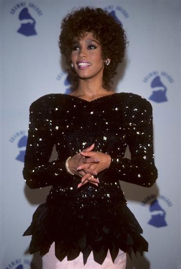 Whitney Houston in 1987 at the Shrine Auditorium
