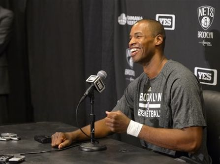 """NBA player Jason Collins tweeted: """"Commissioner of the @NBA just showed us how he drops the hammer on ignorance. #lifetimeban for Donald Sterling. The ultimate #gonefishing"""""""