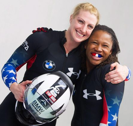 Lauryn Williams (right)- USA Bobsled team