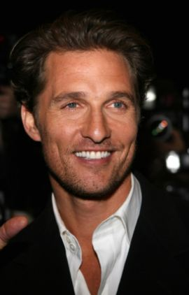 Matthew McConaughey- Something about that southern twang that melts our hearts.