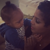 Toni Braxton and baby Logan