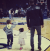 Chris Paul with his kids
