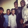 Dwayne Wade, his mom, sons, and Kobe Bryant