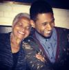 Usher and his grandmother