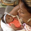 Eva Marcille and her daughter