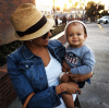 Tamera Mowry-Housley and son