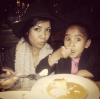 Jhene Aiko and her daughter