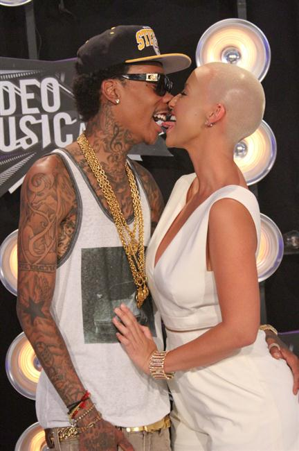 Wiz Khalifa and her ex Amber Rose