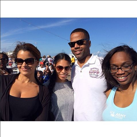 Claudia Jordan with AJ Calloway and wife!