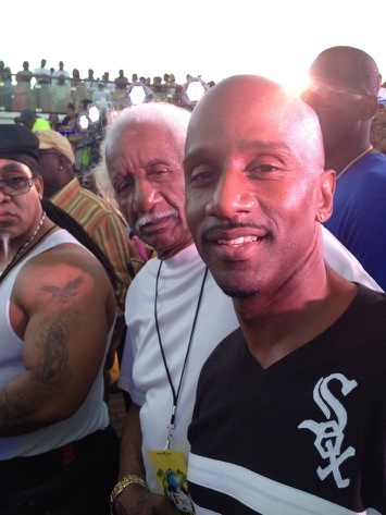 Comedian Damon Williams and his father