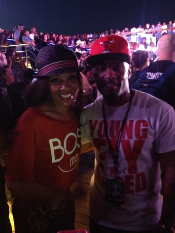 Celebrity blogger Willie Moore Jr. and actress Wendy Raquel Robinson!