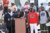 "Attorney Ben Crump gives a speech at the ""Stand Your Ground"" rally."