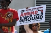 "Hundreds show support at the ""Stand Your Ground"" protest."