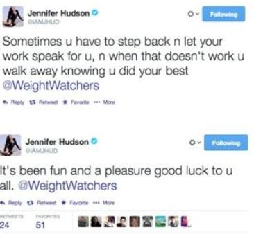 Jennifer-Hudson-Weight-Watchers-Tweets