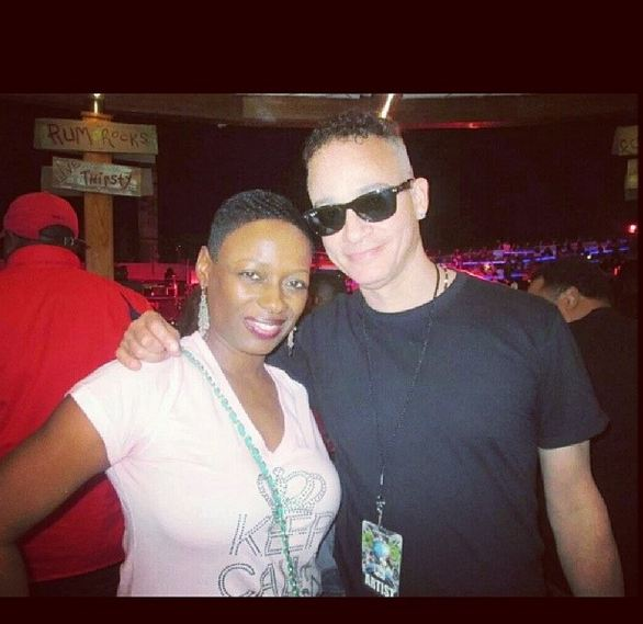 Kid from Kid n' Play snaps a photo with a cruiser!
