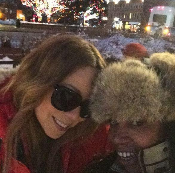 Mariah Carey and friend