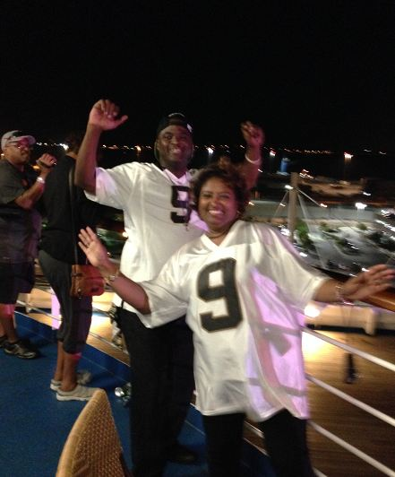 New Orleans representing on the cruise!