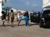 2014 Fantastic Voyage guests checking out Ford's vehicles.