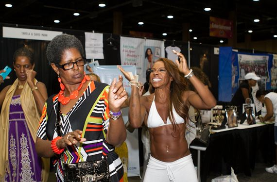 A.J. Johnson brought fitness and fun to the Allstate Tom Joyner Family Reunion.