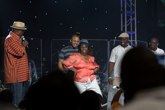J, Anthony Brown always knows how to bring out the best in the Allstate Tom Joyner Family Reunion guests!