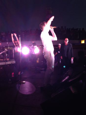 Robin Thicke and Tom Joyner on the 2014 Fantastic Voyage stage!