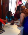 Wendy Raquel Robinson meets guest on the 2014 Fantastic Voyage!