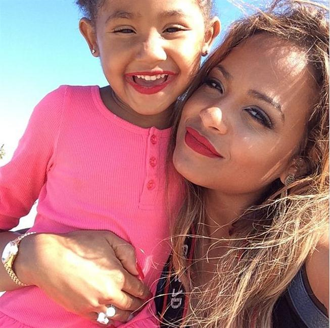 Christina Milian and her daughter Violet