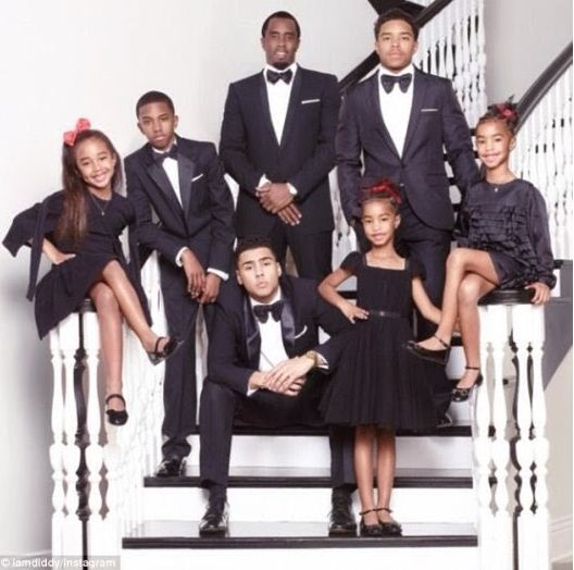 Diddy has six kids.
