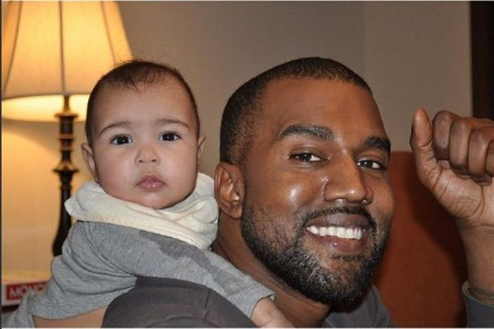 Kanye and his daughter North West