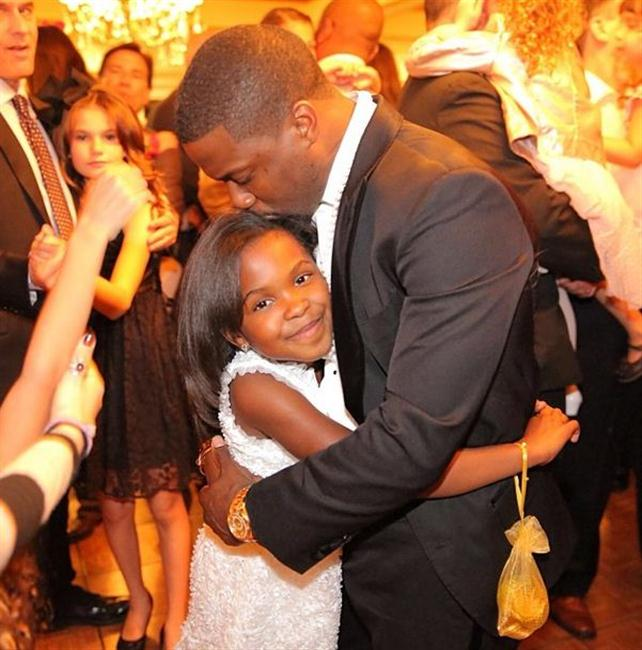Kevin Hart and his daughter Heaven.