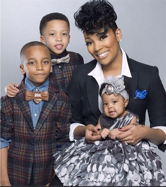 Monica Brown and her kids, Romelo, Rocko and Lailah.