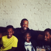 Dwayne Wade with his boys