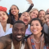 Lance Gross with fans