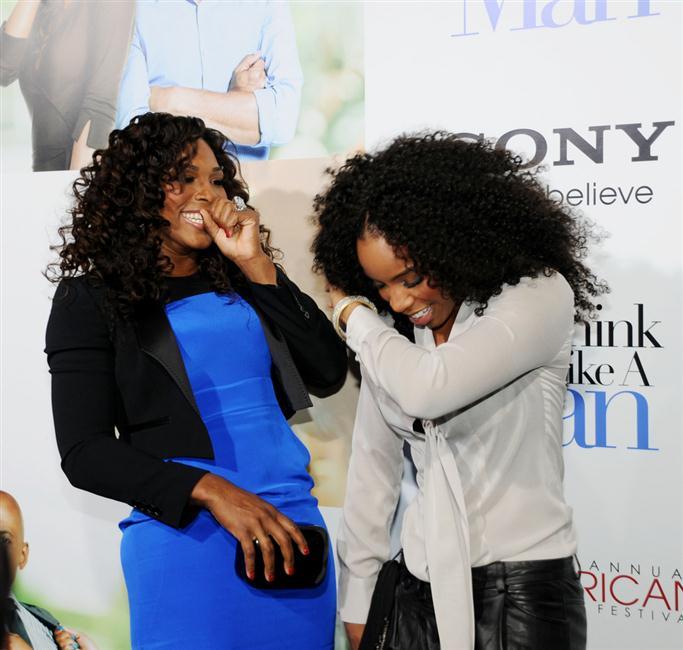 Serena Williams and Kelly Rowland