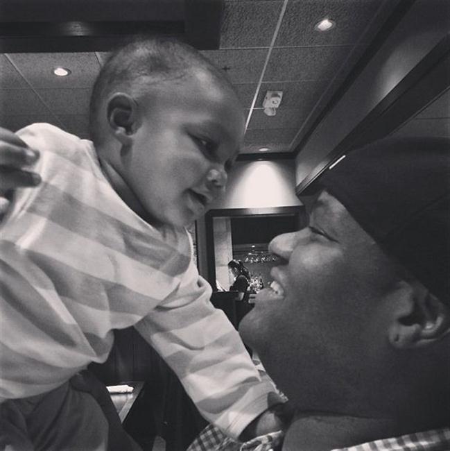 Vince Herbert and his son Logan.