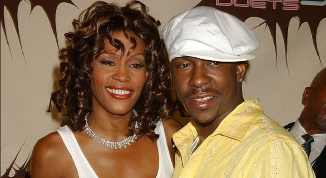 Whitney Houston and then husband Bobby Brown in the 1990's