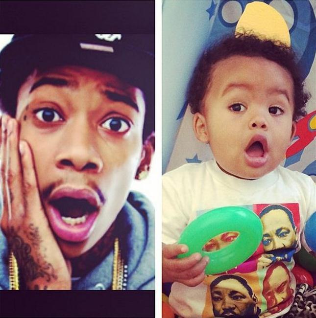 Wiz Khalifah and his son Sebastian.