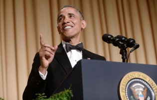 US President Barack Obama speaks at the annual White House Correspondent's Association Gala